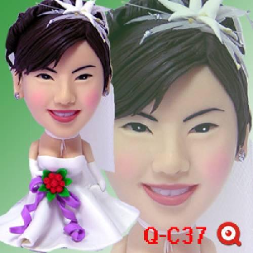 公仔-娃娃製作 浪漫結婚季節 C-Q37-潔白新娘裝公仔